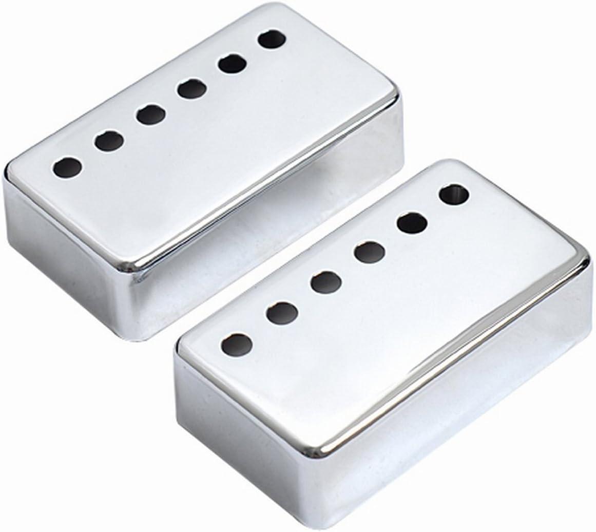 Musiclily 52mm Metal Cubierta para Pastilla Humbucker Posición Puente de Guitarra Eléctrica, Cromo(2 Piezas)