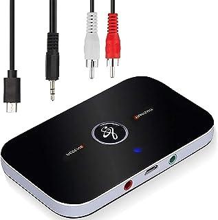 Adaptateur Bluetooth Récepteur,Ozvavzk Bluetooth Émetteur Récepteur 5.0 Transmetteur Récepteur Bluetooth Audio 2 en 1 avec...
