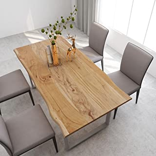 vidaXL Bois d'Acacia Massif Table de Salle à Manger Table de Cuisine Table à Dîner Table de Repas Meuble de Cuisine Maison...