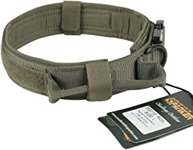 EXCELLENT ELITE SPANKER Tactical Dog Collar Training Nylon Adjustable Military Dog Collars with Control Handle