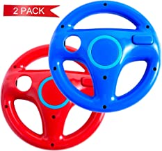 G.Wheel 2 pack Wii Steering Wheel,Wii Mario Kart with Racing Wheel for Nintendo Wii,Red and Blue Wii Steering Wheel without Remote Control,Racing Wheel Wii U for Racing,Tanks and Other Driving Games