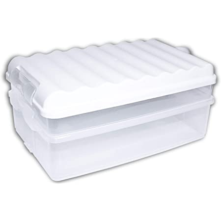 Stapelbare Aufschnittbox Frischhaltedose Wurst Behälter Aufschnittdose Box 1-4er