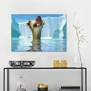 Wallpaper Sticker ice Age 5 sid po Decor Mural for Home W36 x L24 Inch