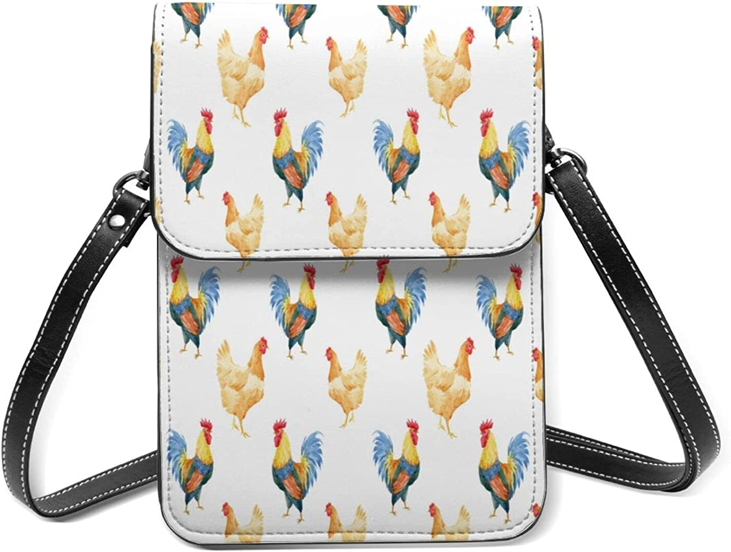 5 ☆ popular Watercolor Rooster And Hen Small Lightweig Cell NEW before selling Phone Purse Flip
