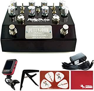 PettyJohn Electronics PettyDrive V2 Iron and Chime Combo Guitar Effects Pedal with Polish Cloth, Pick Card, Tuner, Capo, 9V Power Supply