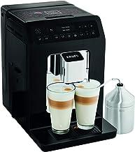 Krups Evidence Espresso EA891810 - Cafetera Superautomática 15 Bares, 15 Preajustes, Niveles de Intensidad, Molido Grano, Autolimpieza y Descalcificación e Incluye Jarra de Leche
