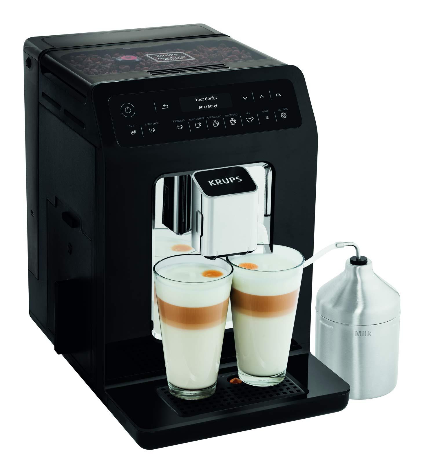 Krups Evidence Espresso EA8918 - Cafetera Superautomática 15 Bares, 15 Preajustes, Niveles de Intensidad, Molido Grano, Autolimpieza y Descalcificación e Incluye Jarra de Leche: 643.55: Amazon.es: Hogar