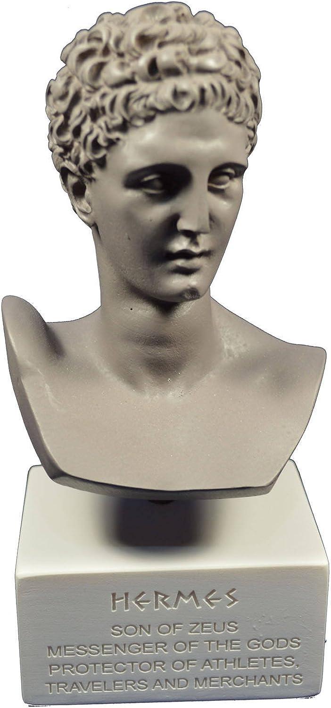 Hermes Sculpture grec ancien Dieu conducteur d'ames dans le musée de Afterlife Reproduction Tour de poitrine grigio Coloree