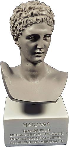 venta de ofertas Hermes Sculpture grec ancien Dieu conducteur d'ames dans le le le musée de Afterlife Reproduction Tour de poitrine gris Color  tomamos a los clientes como nuestro dios