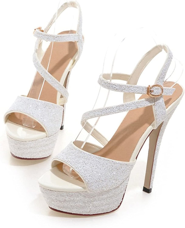 RHFDVGDS Summer light with Super sexy high heels nightclub ladies high heels models catwalk platform Sandals