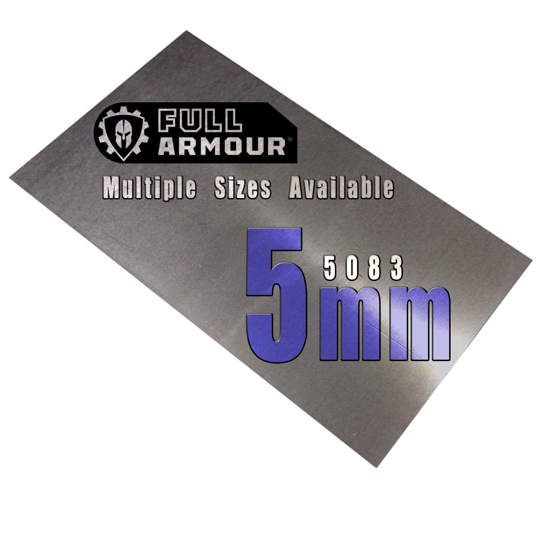 BuyAluminium 5083 - Placa de aluminio (5 mm), 150mm x 250mm, 1