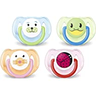 Philips Avent Orthodontic Pacifier, 6-18 Months, Animal Design SCF182/24 (Colors and designs may...