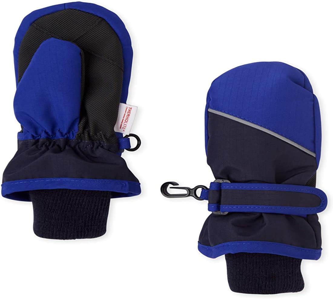 The Children's Place Baby Boys' Toddler Colorblock Ski Mittens