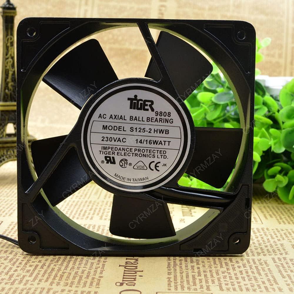 CYRMZAY Ventilador Compatible para Tiger S125-2 HWB 230V 2-Wire 14 / 16WATT 12025 Cooling Ventilador