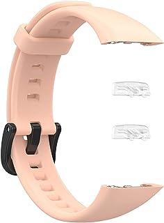 حامي إطار استبدال شل Silicone Strap for Huawei Honor Band 6 Watch Replacement Bands Wrist Band for Huawei Band 6 Adjustabl...