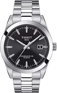 ساعة جنتل مان من الستانلس ستيل للرجال من تيسوت، لون رمادي، T1274071105100