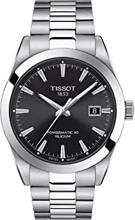 Tissot Mens Gentleman Swiss Automatic Stainless Steel Dress Watch (Model: T1274071105100)