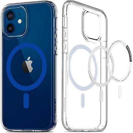 Spigen iPhone12 用 ケース iPhone12Pro 用 ケース 6.1インチ全透明 MagSafe 対応 ケース クリアケース 米軍MIL規格取得 耐衝撃 すり傷防止 ワイヤレス充電対応 アイフォン12 ケース アイフォン12プロケース ウルトラ・ハイブリッド マッグ ACS02627 (ブルー)