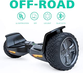 Hoverboard with Bluetooth Speaker and Flashing LED Lights, Two Wheels Self Balancing Hover Boards for Kids and Adults, UL2272 Certified