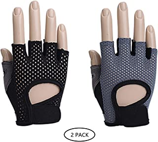 SEMPIYI Sport Half Finger Gloves Men and Women,Weight Training Anti-Skid Sports Riding,Butterfly Mesh Breathable Thin Section.