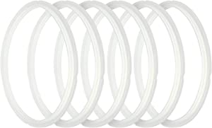 6 PCS Sealing Ring for Instant Pot 6 qt Pressure Cooker Replacement Silicone Gasket Accessories for DUO50, DUO60, LUX50, LUX60, LUX60V3, SMART 60, ULTRA 6, IP-CSG60 AND IP-CSG50 (5/6 quart)