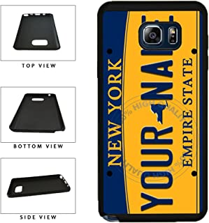 BleuReign(TM) Personalized Custom Name New York State License Plate TPU RUBBER SILICONE Phone Case Back Cover For Samsung Galaxy S8 Plus