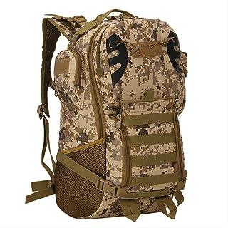 JLCS Bolsa De Alpinismo 45L Hombres Mujeres Militar Ejército Mochila Tactical Trekking Camuflaje Mochila Molle Tactical Bag Pack Viajes Bolsas Impermeables X422WaDesert Digital