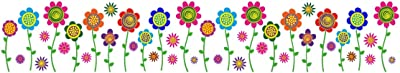 Prodecals Wall Sticker for Living Room Flowers Border(Wall Covering Area : 150 X 25 cms,Multicolour)