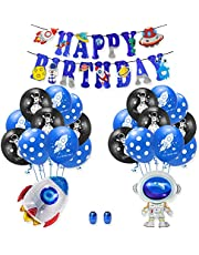 DIY Outer Space Balloon Set Party Decorations Solar System Birthday Supplies Universe Space Happy Birthday Banner for Astronaut Theme