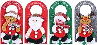 Cartoon raamdecoraties, deur hanger, heldere kleur 4 stks/set voor kerstsupermarkt kerstavond winkelcentrum