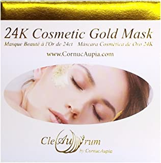 24K Gold Mask Booklet, Real 24K Gold Leaf Sheets for Your Face, and Skin, for Anti-Wrinkling, and Collagen Restoration Benefits