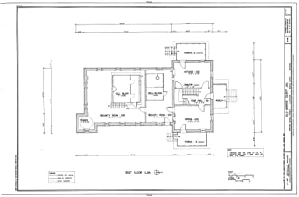 Historic Pictoric Blueprint Diagram HABS ARK,48-CLAR,1- (Sheet 2 of 8) - Old Monroe County Jail, Main & Kendall Streets, Clarendon, Monroe County, AR 12in x 08in
