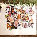 BLOUR 22PCS Niedliches Kleintier Handaufkleber Material Kinder belohnen Aufkleber Kreatives Fotoalbum DIY Aufkleber