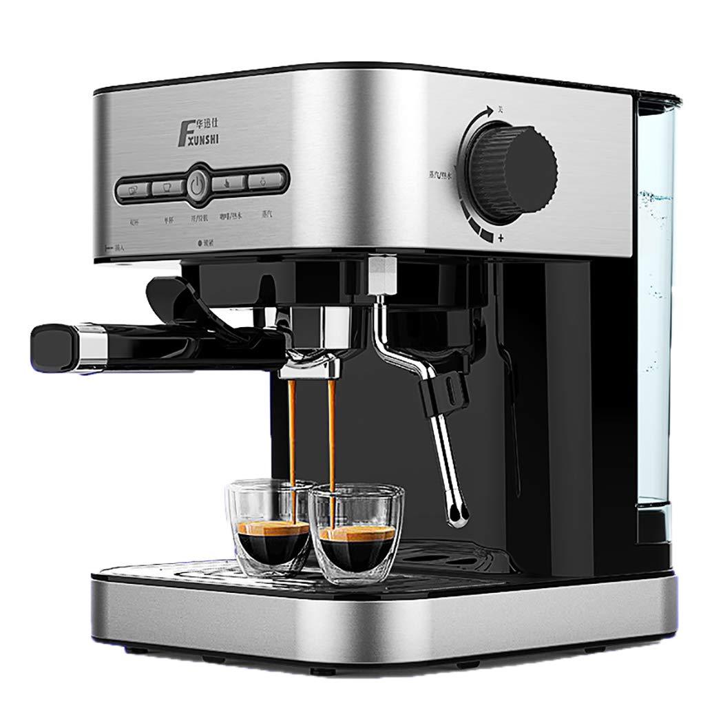 DPPAN Maquina de Cafe 12 Tazas, Cafetera con vaporizador de Leche de Acero Inoxidable,Silver: Amazon.es: Hogar