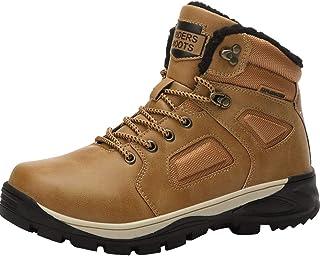 Hombre Botas de Nieve Impermeable Botas de Invierno Forro Piel Zapatillas Trekking Senderismo Sneakers