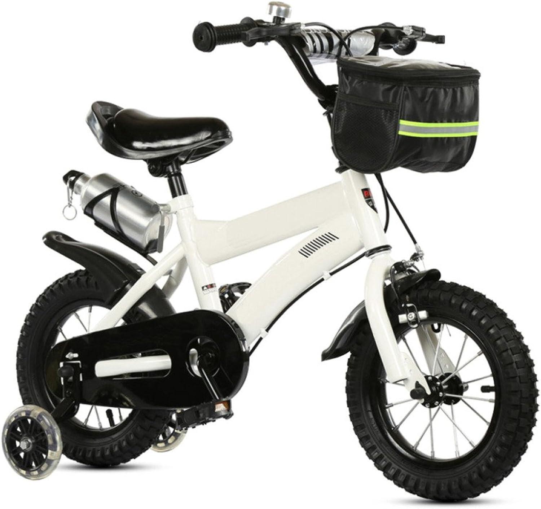 QXMEI Kinder Fahrrad High-Carbon-Stahlrahmen 12 14 16 18 Zoll Jungen Und Mdchen 2-4-5-6-9 Jahre Alt Kinderfahrrder Mit Flash-Trainingsrad,20Inches