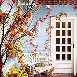 GiBot 400 Stück sortierte farbige Ahornblätter künstliche Herbstkunst Ahornblätter Tischdeko für Halloween, Thanksgiving, Hochzeiten, Zuhause, Innen- und Außendekoration - 6