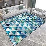 antideslizante para alfombras habitaciones matrimonio completas Alfombra rectangular azul sala de estar sofá decorativo té varias alfombrillas alfombras habitacion matrimonio 120X160CM 3ft 11.2'X5ft 3