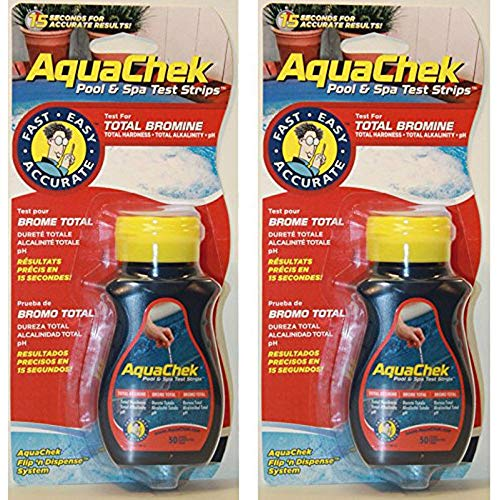 AquaChek - Lot de 2 Bouteilles Testeur 4 en 1 br+ph+alca+th - SC-AQC-470-0006-001