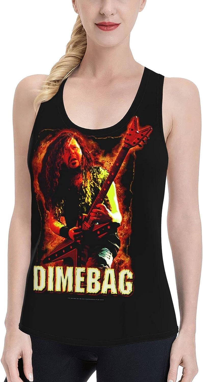 NATHANDAVISON Dimebag Darrell Women's Vest Fashion Sleeveless Sports and Leisure Vest T-Shirt