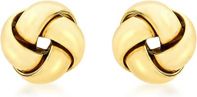 Carissima Gold Women's 9 ct Gold 9 mm Four Way Knot Stud Earrings
