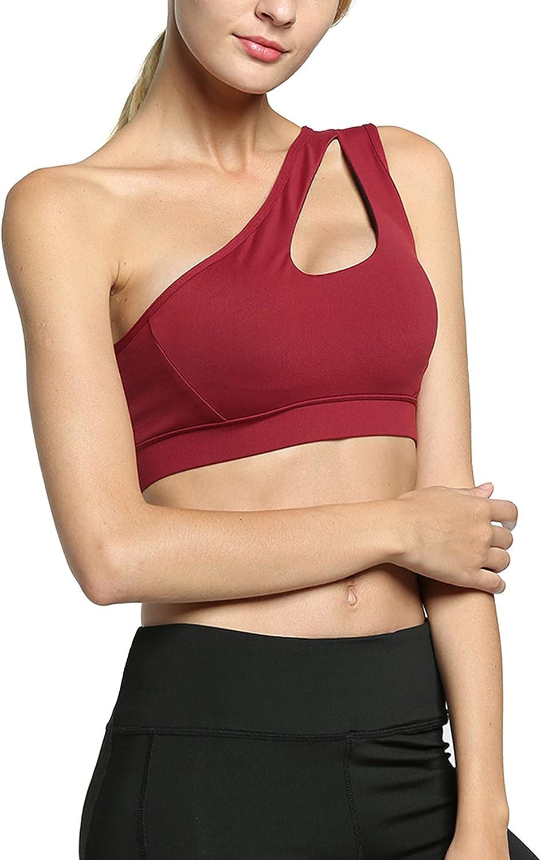 Zando Sports Bras for Women Criss Cross Back Yoga Bra Strappy Sports Bra Padded Removable Cups Bras Gym Workout Top Bra