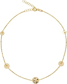 Alwan Silver (Gold Plated) Long Size Anklet for Women - EE5368LG