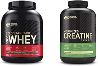 Optimum Nutrition 100% Gold Standard Whey Protein Powder: Double Rich Chocolate (5 Pound) with Micronized Creatine Monohyd...