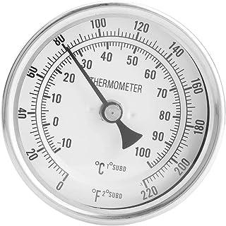 """Thermomètre de brassage de bière Kit de thermomètre bimétallique sans soudure 1/2 """"MNPT 0 ~ 220F pour bière et vin Homebrew"""