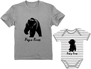 Papa & Baby Bear Men's T-Shirt & Baby Bodysuit Outfit Father & Son Matching Set