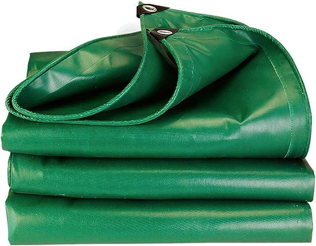 Baches Bache polyvalente, vert épais d'armée de baches de camping-car imperméable imperméable résistant de camping-car vert (taille   4×6m)