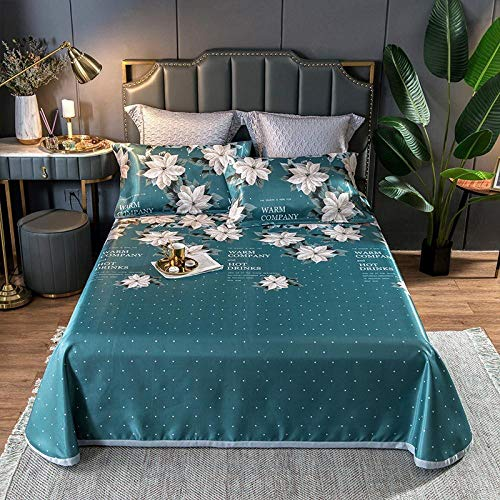 KIKIGO Conditioning Soft Mat,Summer Ice Silk Mat,Air-conditioning soft mat, foldable, washable ice silk mat-K10_200*245cm two-piece set