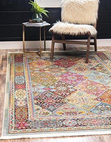 Unique Loom Baracoa Collection Bright Tones Vintage Traditional Multi Area Rug (5' 5 x 8' 0)