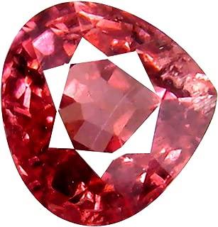 0.97 ct AAA+ Grade Pear Shape (6 x 6 mm) Unheated Pink Malaya Garnet Natural Loose Gemstone